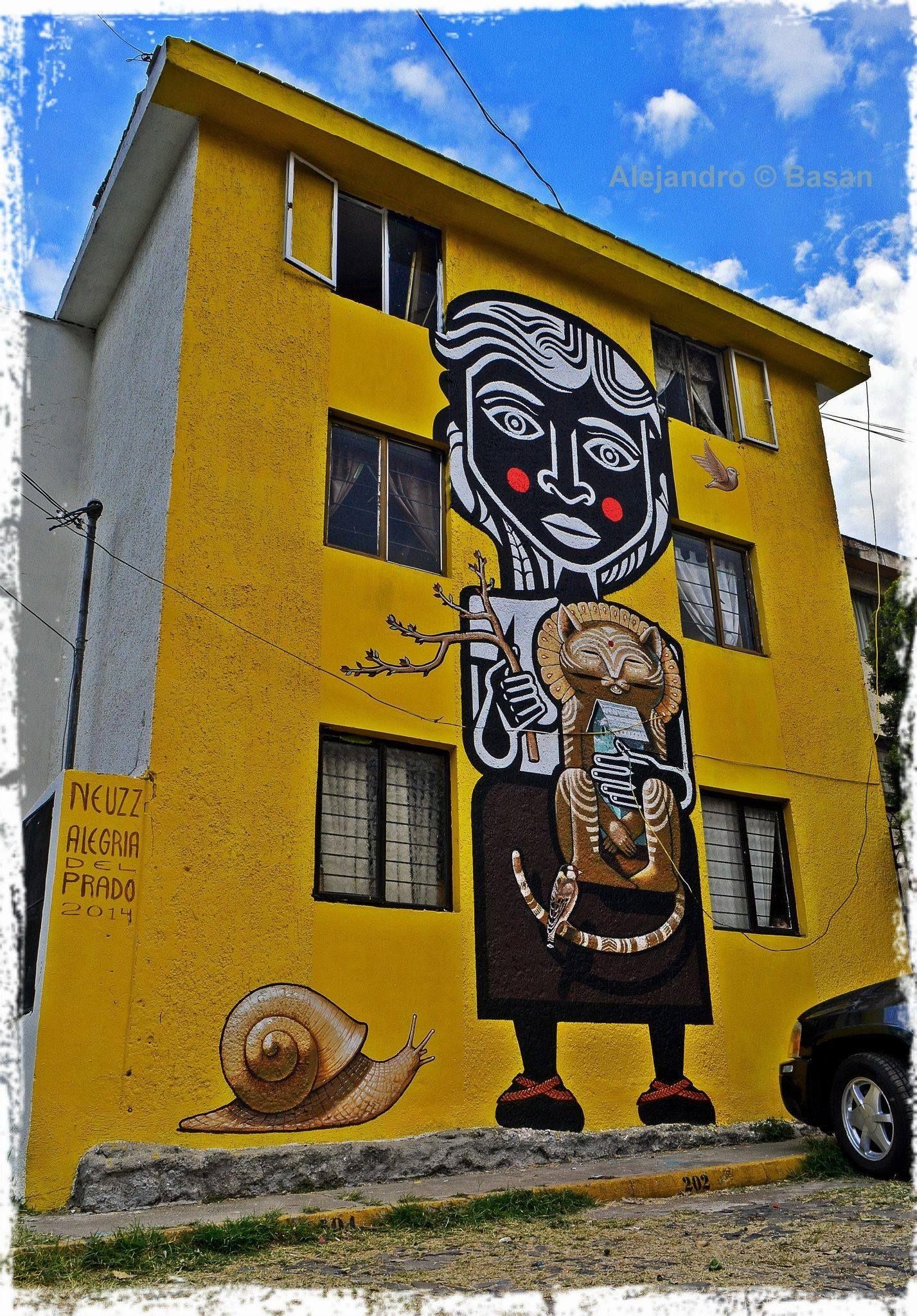 Street art | Mural by Neuzz [aka Miguel Mejía] | Neuzz | Pinterest ...