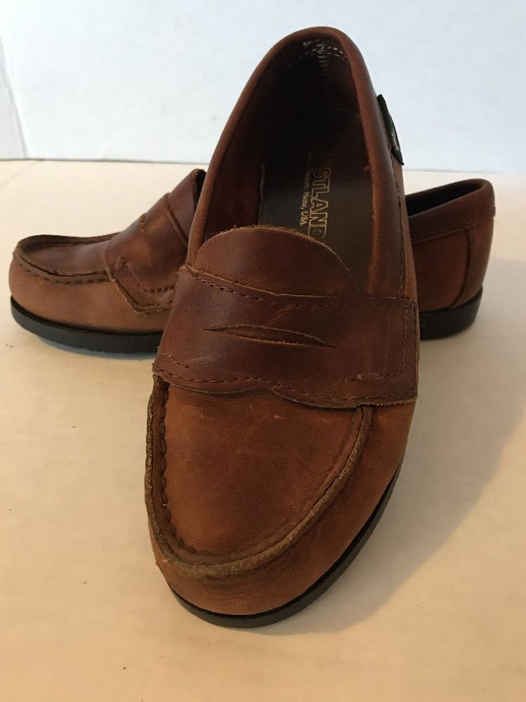 035752b4623 Eastland Soft Brown Leather Women s Penny Loafer