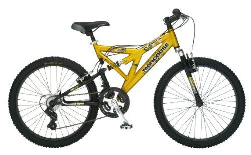 Kids Boys Gold Mongoose Off Road 24 Inch Mountain Bike Bicycle