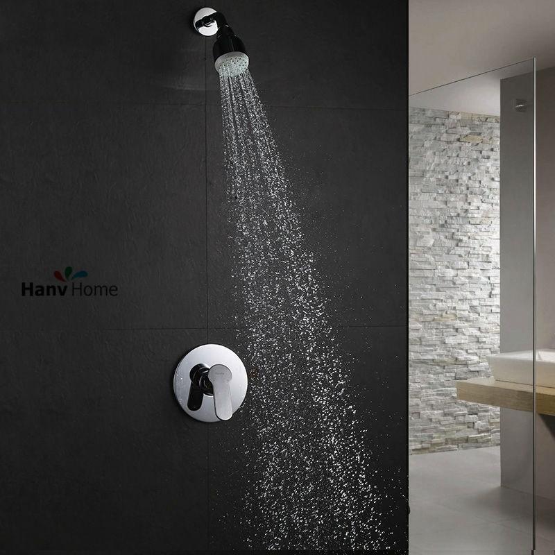61.58$  Watch here - http://ali9go.worldwells.pw/go.php?t=32253127305 - Air injection type  Shower Head Set Bathroom Shower Jet Body Sprayer mixer Valve Showrer Arm 61.58$