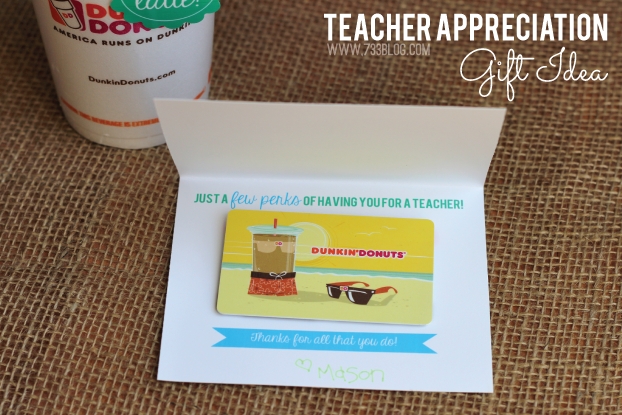 Just a Few Perks of Having You as a Teacher Gift Card Holder and Thanks A Latte Tag for Teacher Appreciation and Back-to-School Gifts