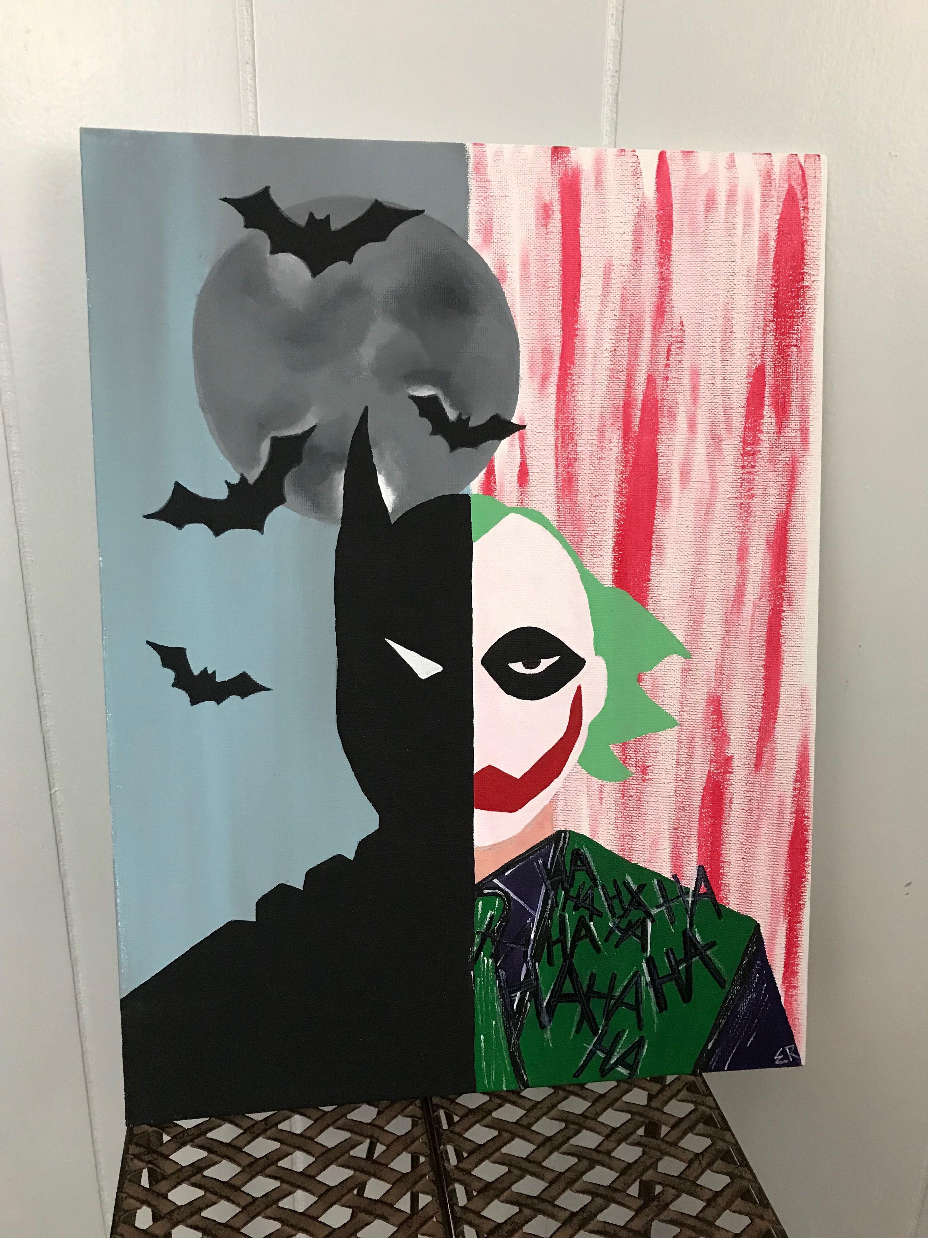 Wall Art Batman Joker Art Pop Art Decor Abstract Joker Of The