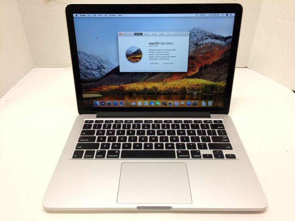 Apple Macbook Pro 12 1 13 Intel Core I5 2 9ghz 512gb Ssd 16gb Ram Early 2015 Apple Laptop Apple Mac Mini Laptop