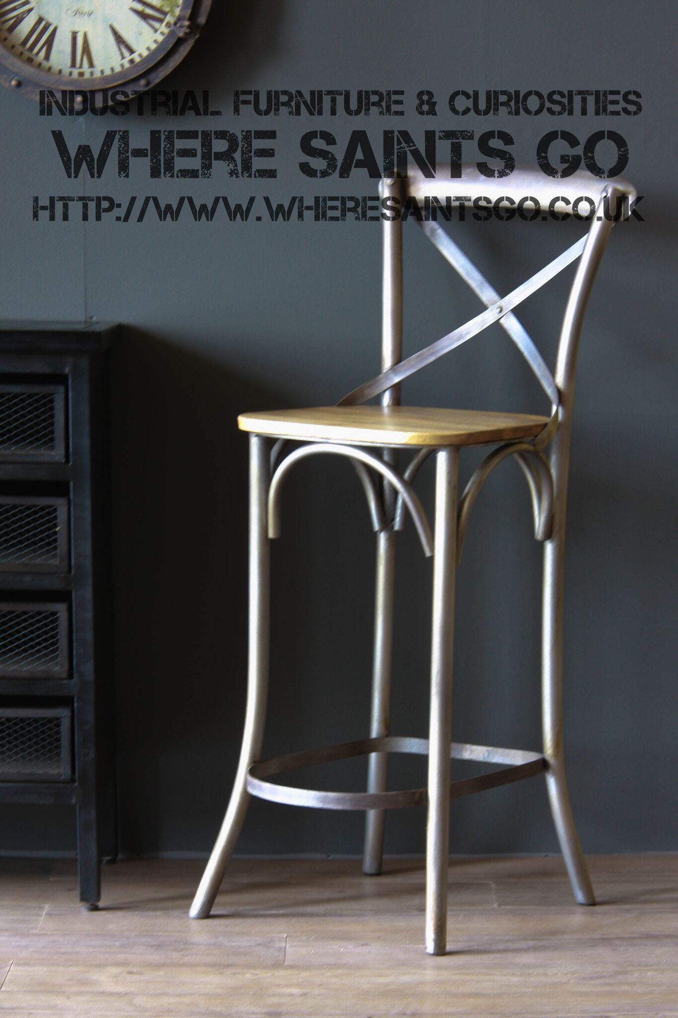 The Farmhouse Bar Stool Is Based On The Iconic Cross