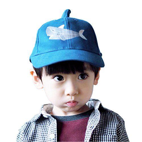 3e67b5803be4 Kids Toddler Boys Novelty Shark Cotton Baseball Trucker H…