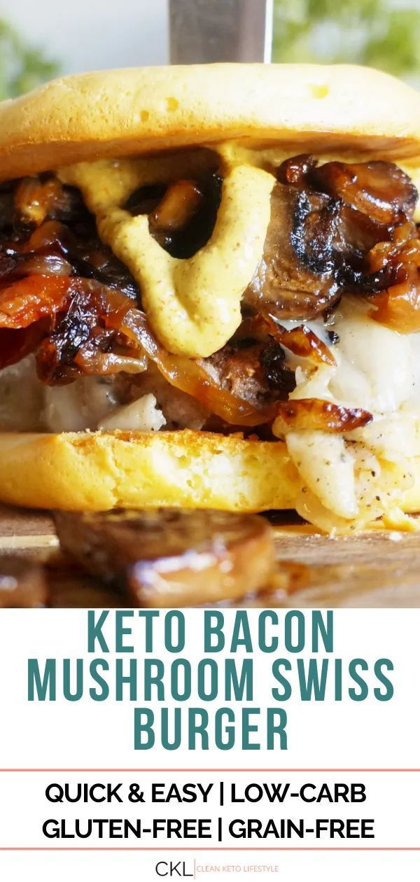 This recipe has all the requirements for a PERFECT KETO Burger – caramelized onions, crispy bacon