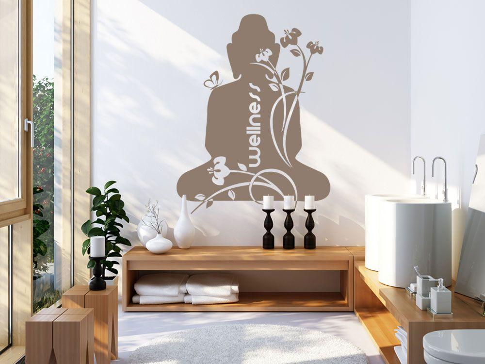 Wandaufkleber mit Buddha Motiv für das Badezimmer Wandtattoos für - Wandtattoos Fürs Badezimmer