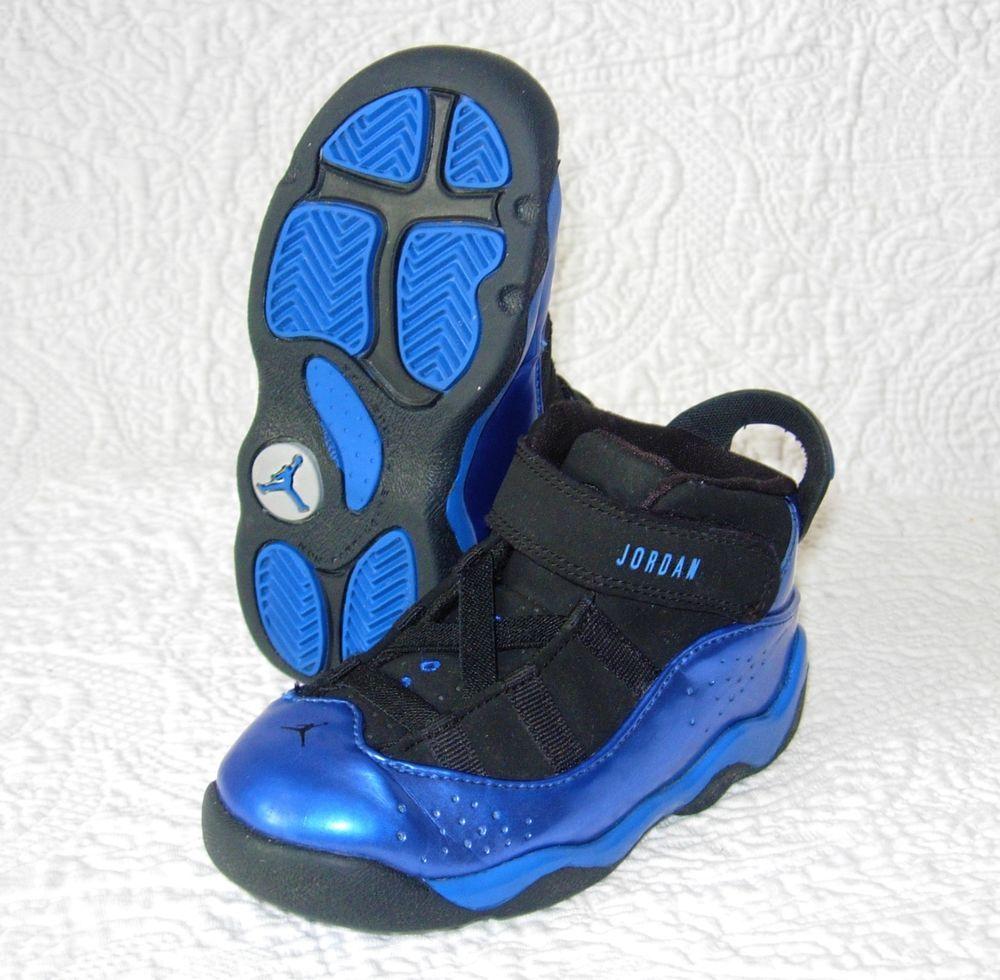 online retailer 09f8b a7e27 Jordan 6 Rings Size 6C Toddler 323420-003 Basketball Black ...