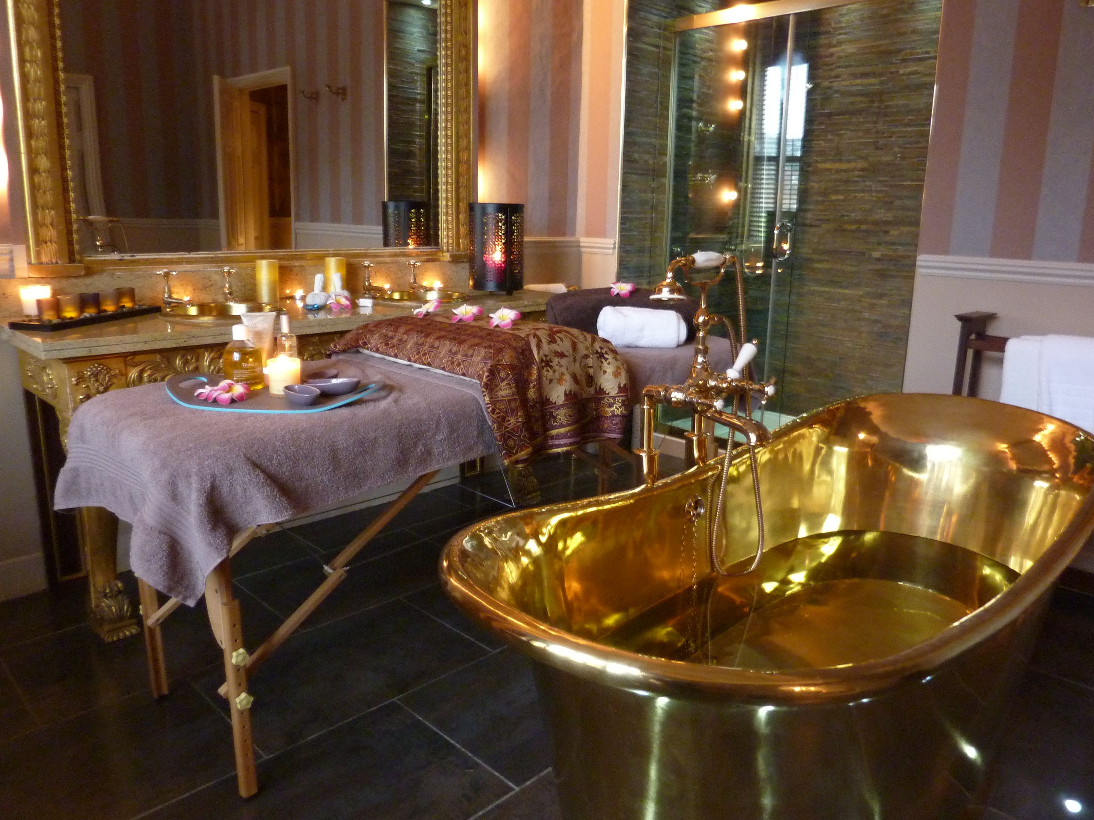 William Holland Brass Bateau Bath In The Private Spa Of Cathedral Suite At Swan