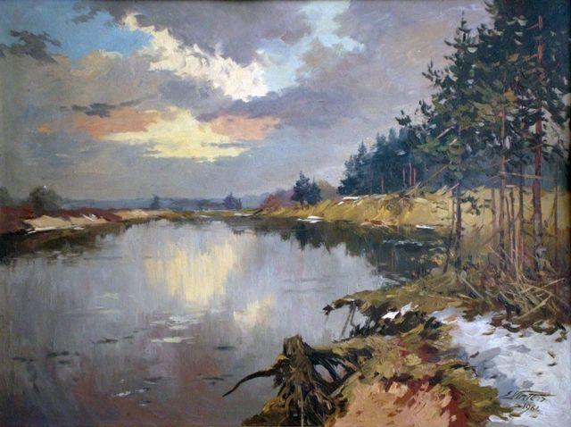 Ezers agrā pavasarī, Edgars Vinters (1919-2014, Latvia)