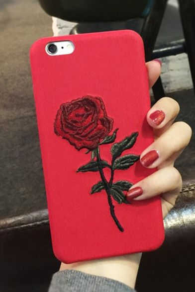 biggest discount 0363d e5588 Hot Fashion Stylish Retro Rose Embroidered Mobile Phone Case for ...