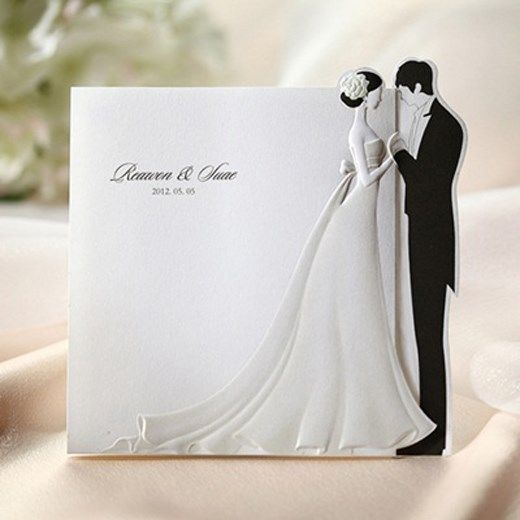 41 Unique Wedding Gift Ideas For Bride And Groom In 2020: 50Sets Bride & Groom Wedding Invitations Cards + Envelopes