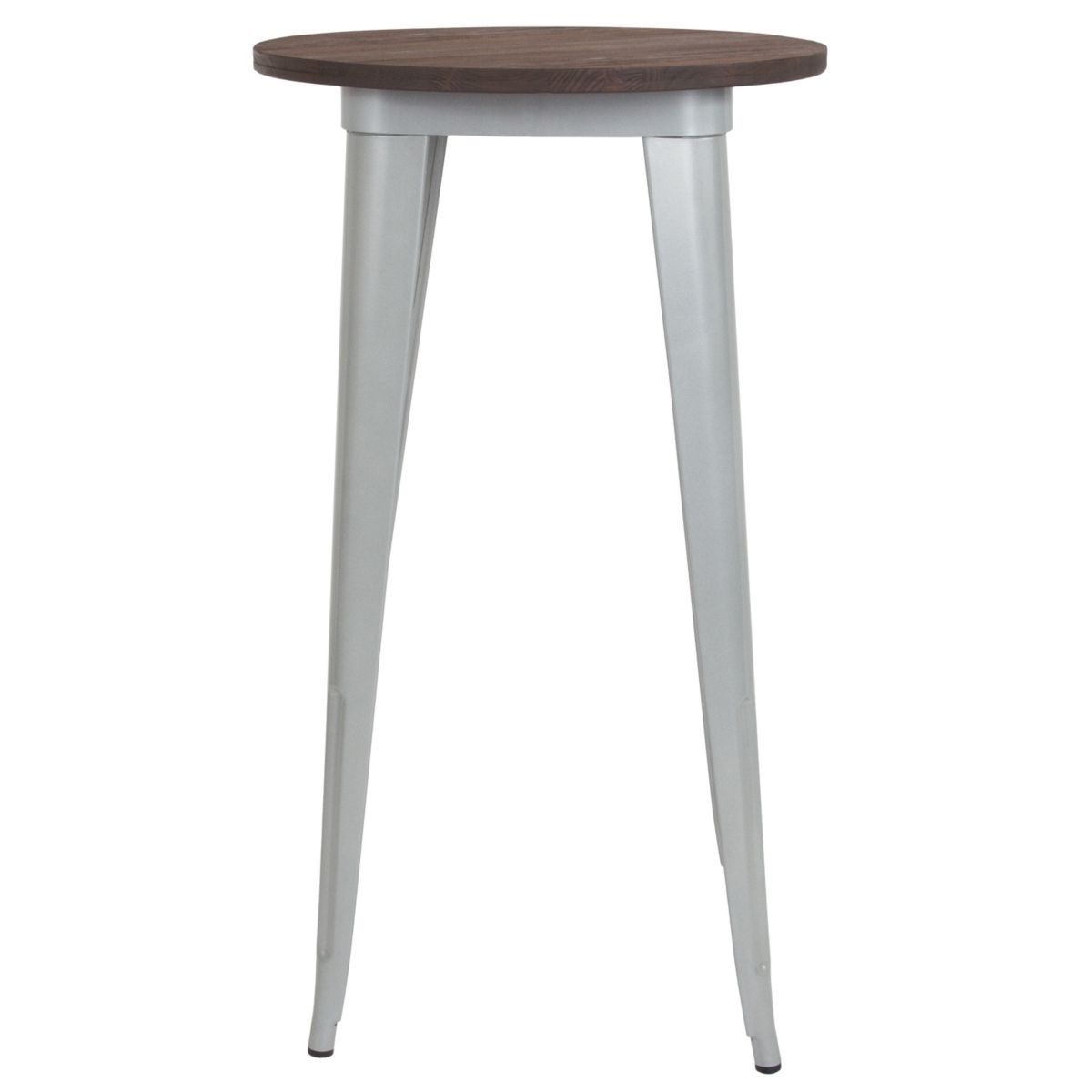 Flash Furniture 24 Round Silver Metal Indoor Bar Height Table