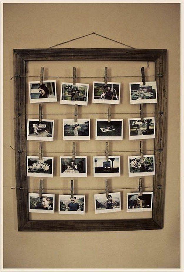 Cuelga tus fotos con originalidad: | hOme | Pinterest | Decorar tu ...