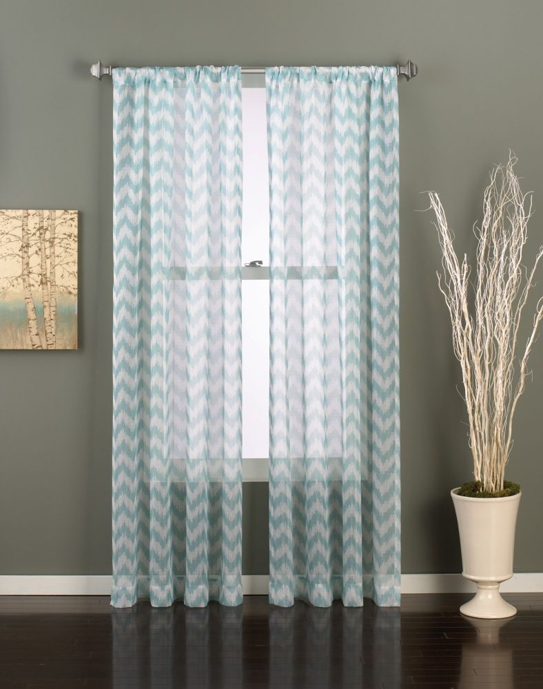 Transparent Chevron Curtain Panels