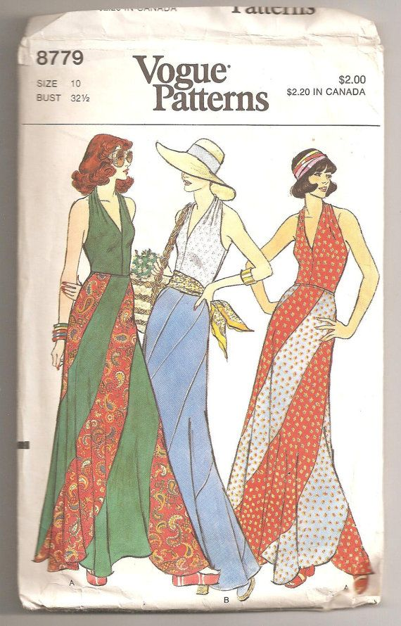 Vogue 8779 Swirl Skirt, 1970s
