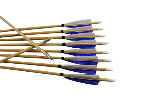 12x Archery Wooden Arrow Traditional Longbow Recurve bow Target Practice Hunting