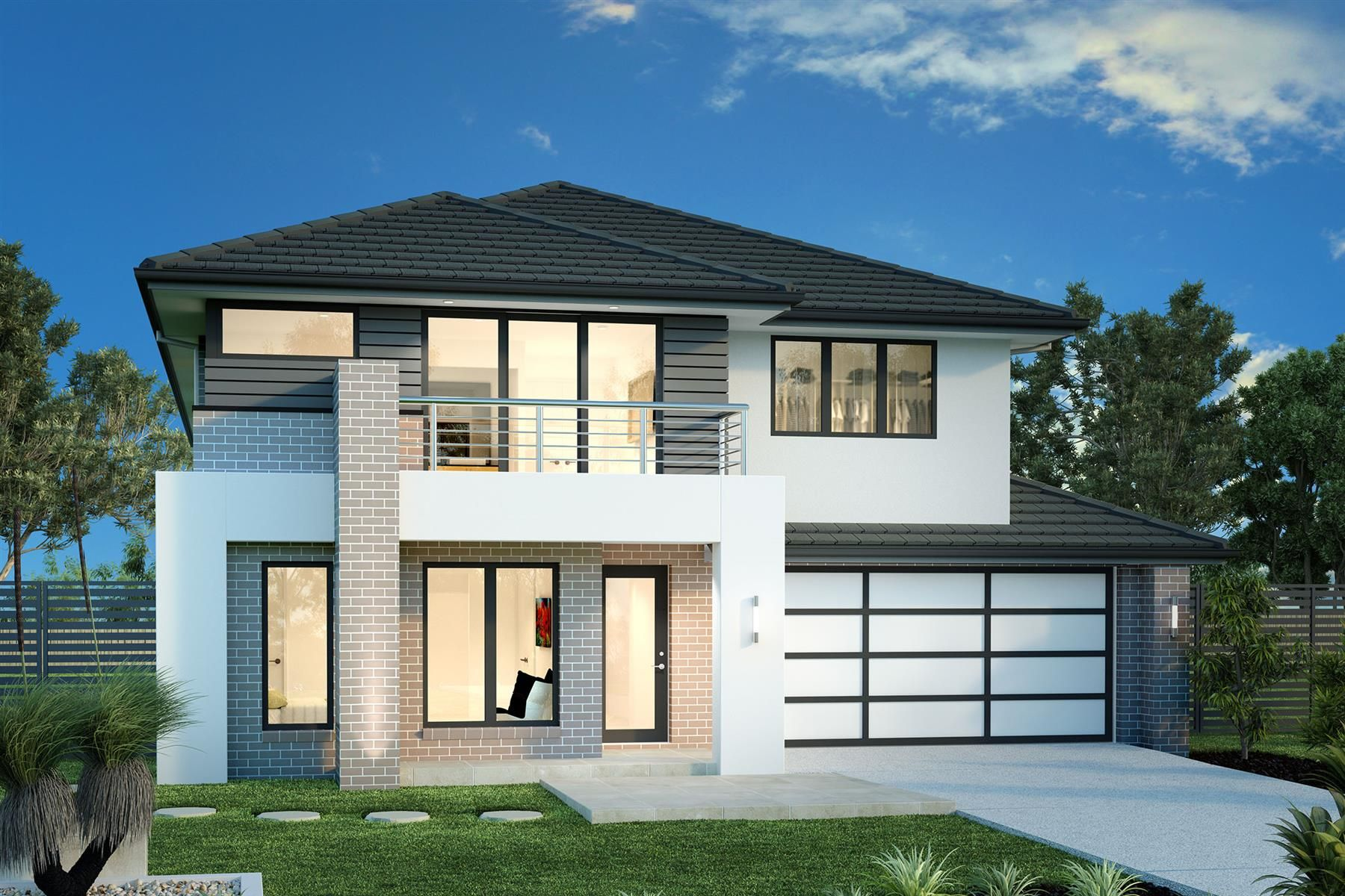 Balmain 350 Home Designs In Sydney North Brookvale G J Gardner Homes Facade House House Design Double Storey House