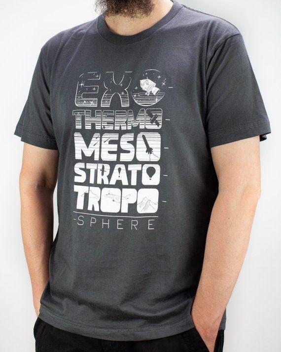 15e259266 Atmosphere Tee Shirt, Astronomy T Shirt, Geeky Space Shirt Man, Funny Nerdy Planet  Shirt Men, Rocket