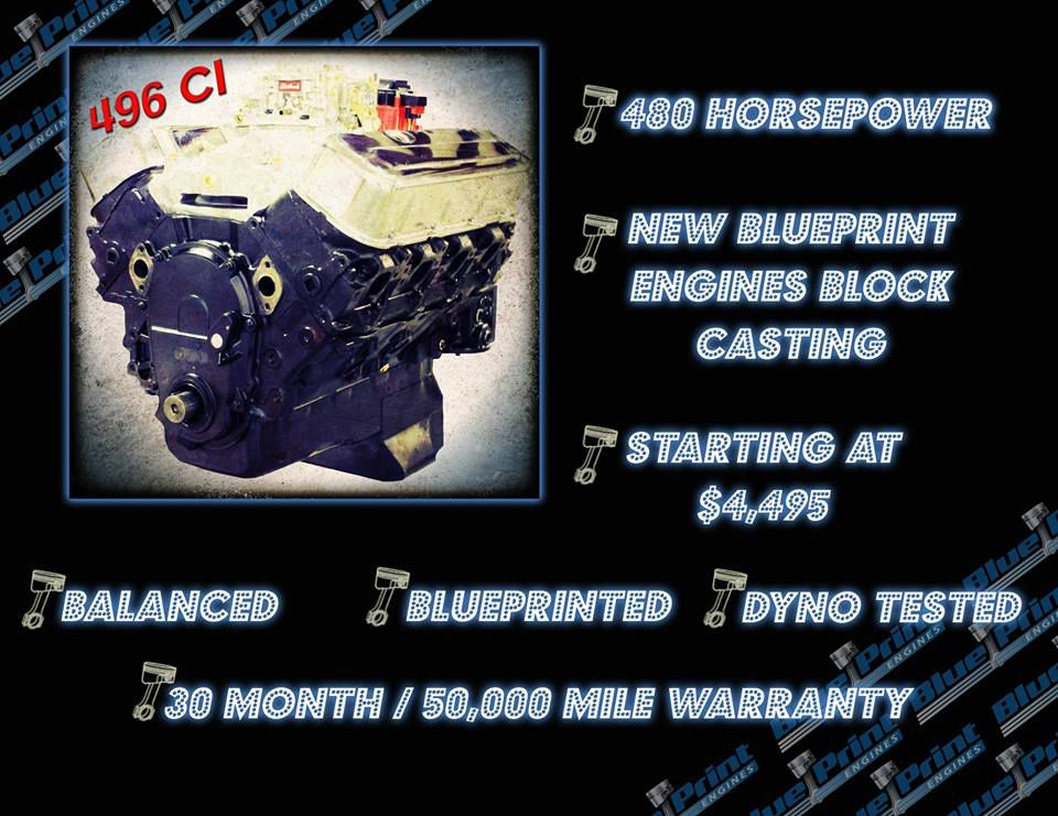 Think a stroker big block chevy crate engine isnt affordable when think a stroker big block chevy crate engine isnt affordable when built with a new block think again blueprint engines is now offering their 496 big malvernweather Image collections
