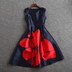 ff07e528f7d spring autumn designer new women's dresses dark blue mid-calf gown ...