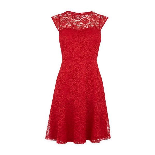Red lace dress size 6