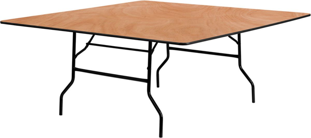 Flash Furniture Natural Wood 72 Inch Square Folding Banquet Table