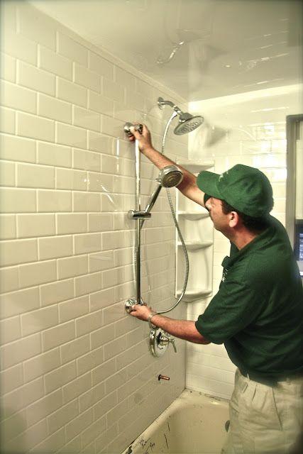 Designer Dad Amazing Bathroom Makeover Acrylic Faux Subway Tile Sheet Amazing Bathrooms Subway Tile Bathroom Makeover
