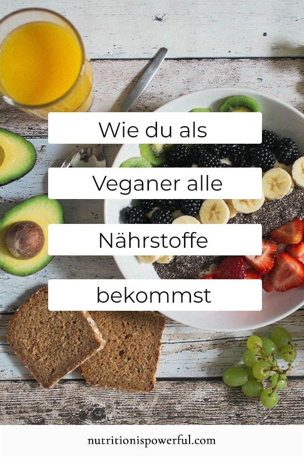 Wie du als Veganer alle Nährstoffe bekommst