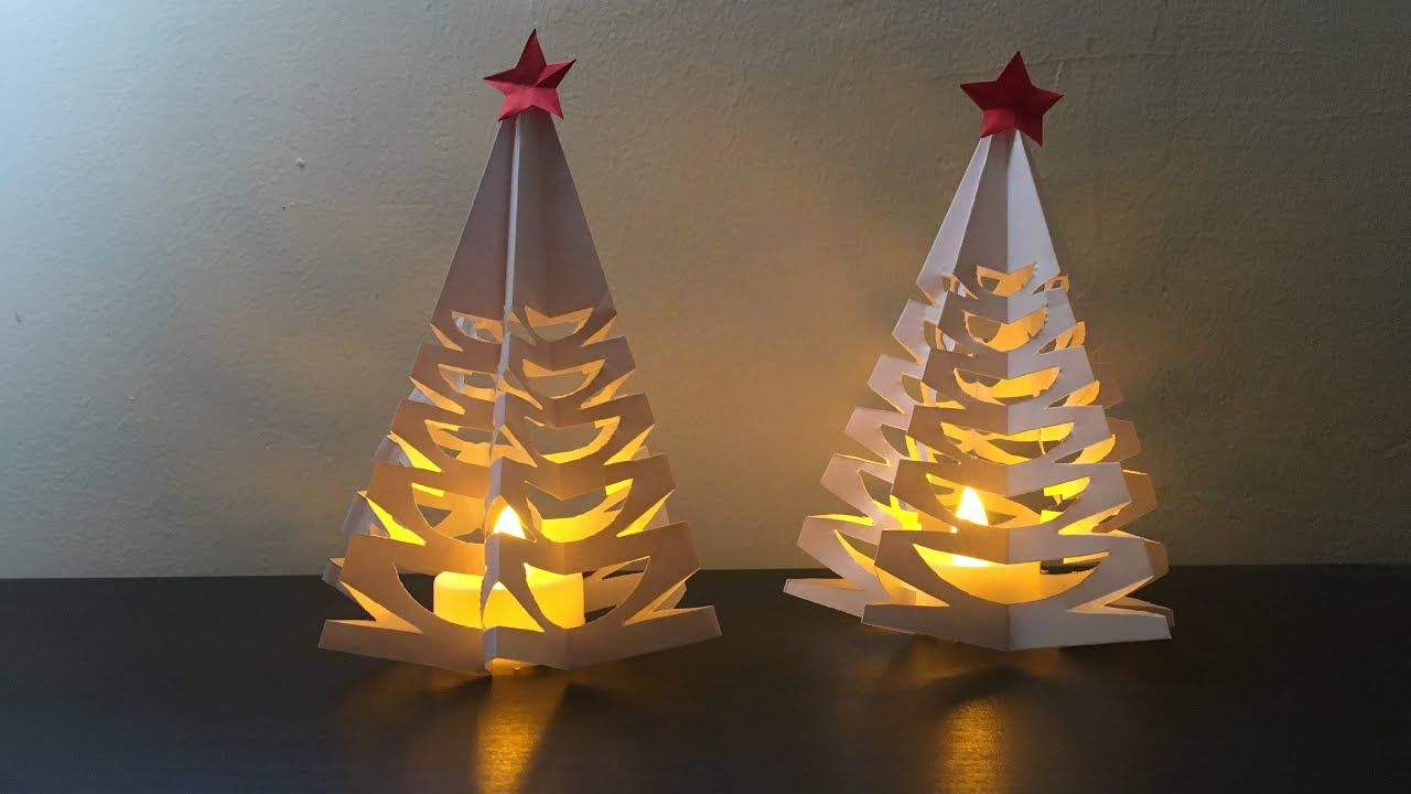 Christmas Tree With Paper 3d Paper Christmas Tree Diy Christmas Tree Paper Lantern Paper Craft Yout Paper Lanterns Diy Diy Lanterns Diy Christmas Paper
