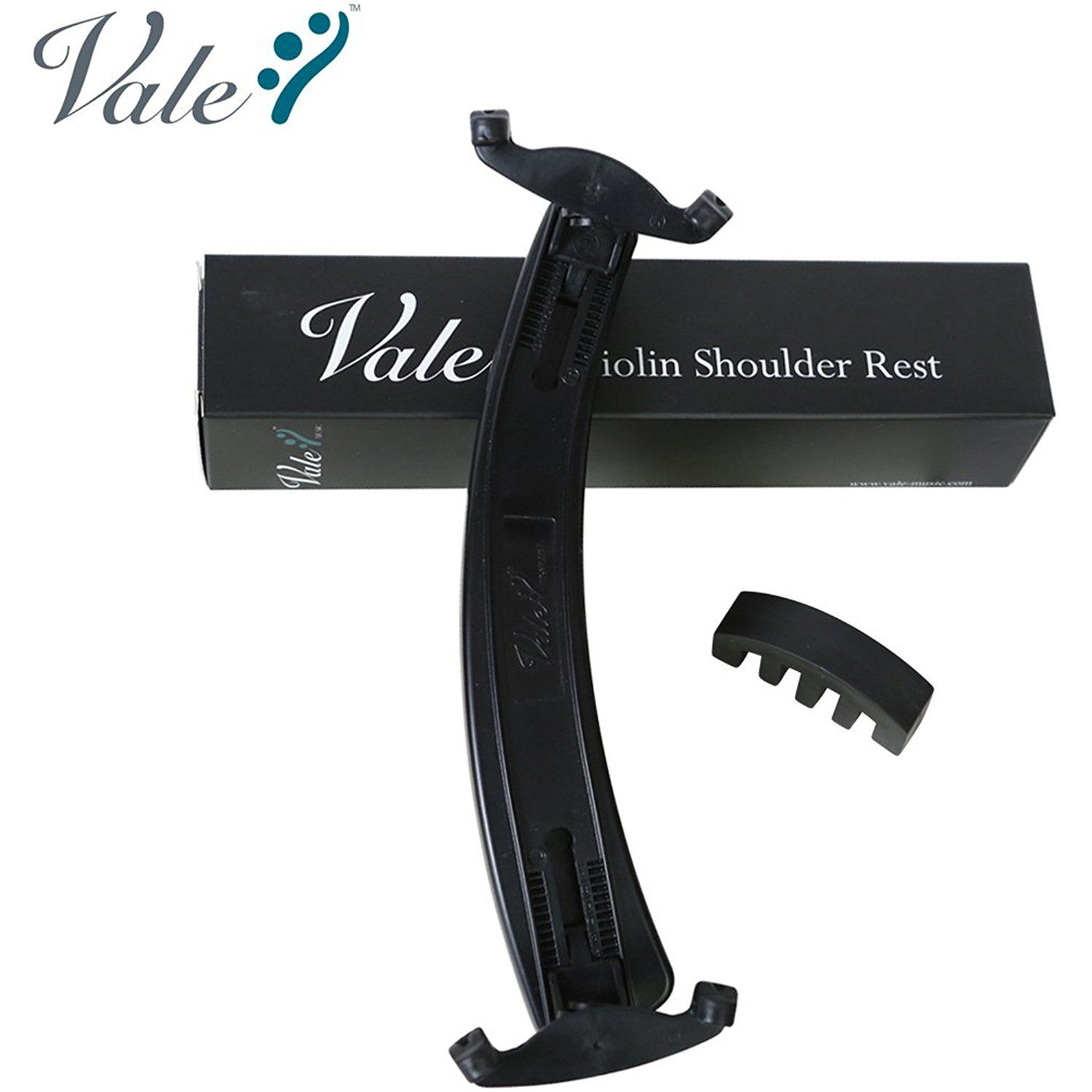 VALE Adjustable Violin Shoulder Rest with Free Violin Mute