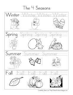 Pre-K and Kindergarten Seasons Review | Homeschooling | Seasons ...