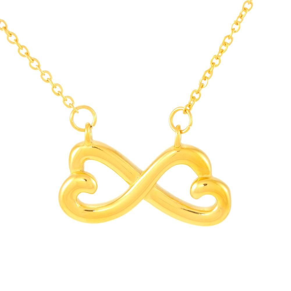 "Celebrate your everlasting love and express your affection with a look that says ""I'll love you til the end of time. "" Artisan crafted in 14k White Gold finish or 18k Yellow Gold finish, this heart-shaped infinity symbol is hand polished to show off the magnificent shine. This piece is turned on its side and suspends on an adjustable 16 to 22 inch cable chain that secures with a lobster clasp. Pendant Dimensions: -Height 0.5"" (1.3cm) -Width 1"" (2.5cm)"