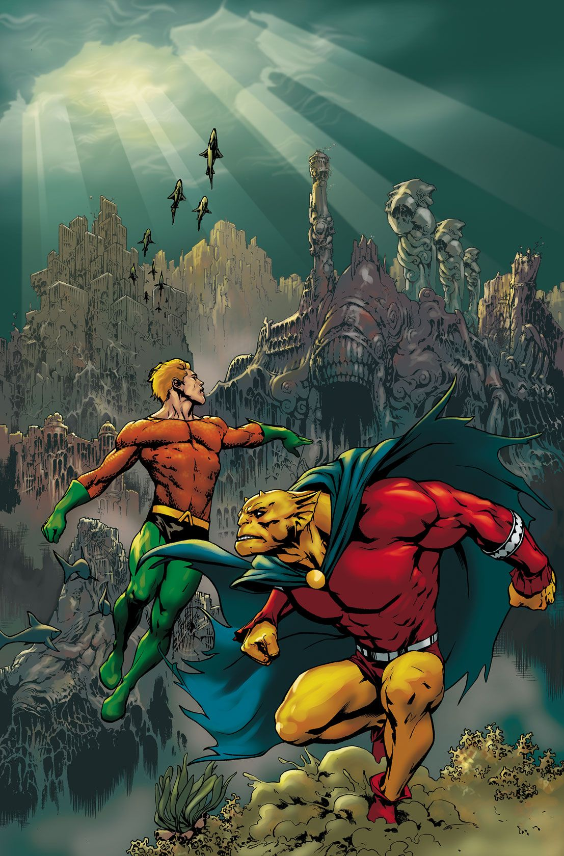 Aquaman The Demon Etrigan By Jesus Saiz Dc Comics Art
