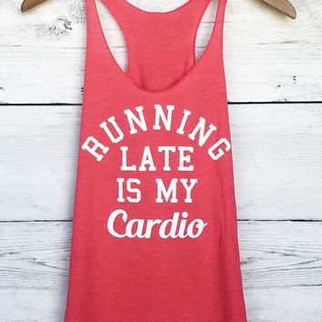 Running Late is my Cardio Tank Top in Pink