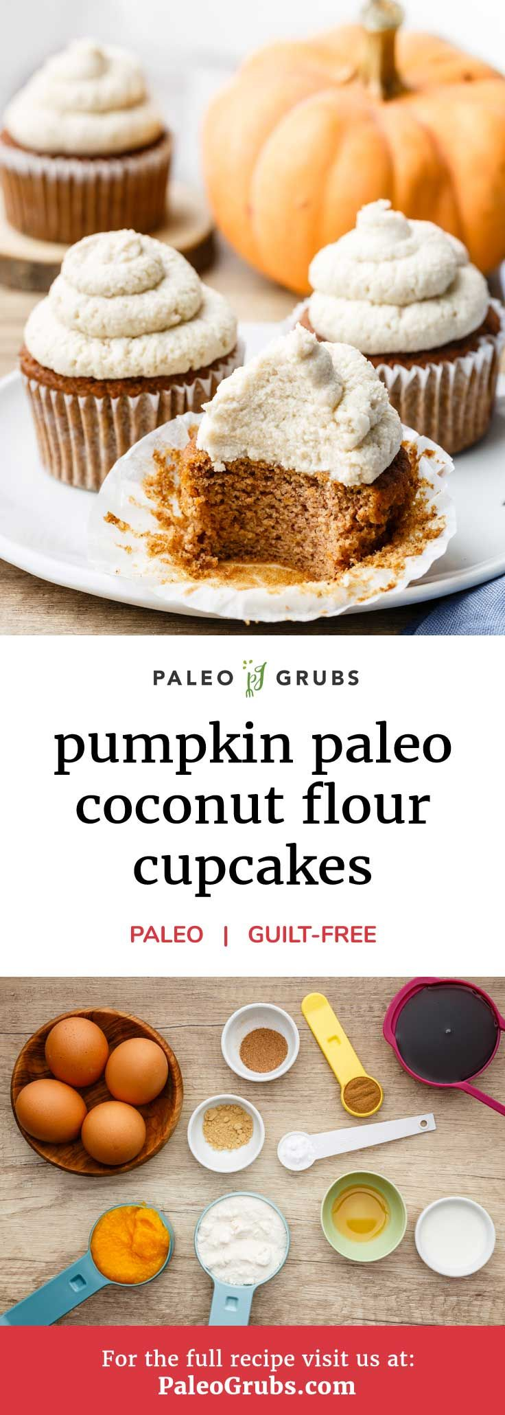 Photo of Pumpkin Paleo Cupcakes with Maple Syrup Frosting (Made with…