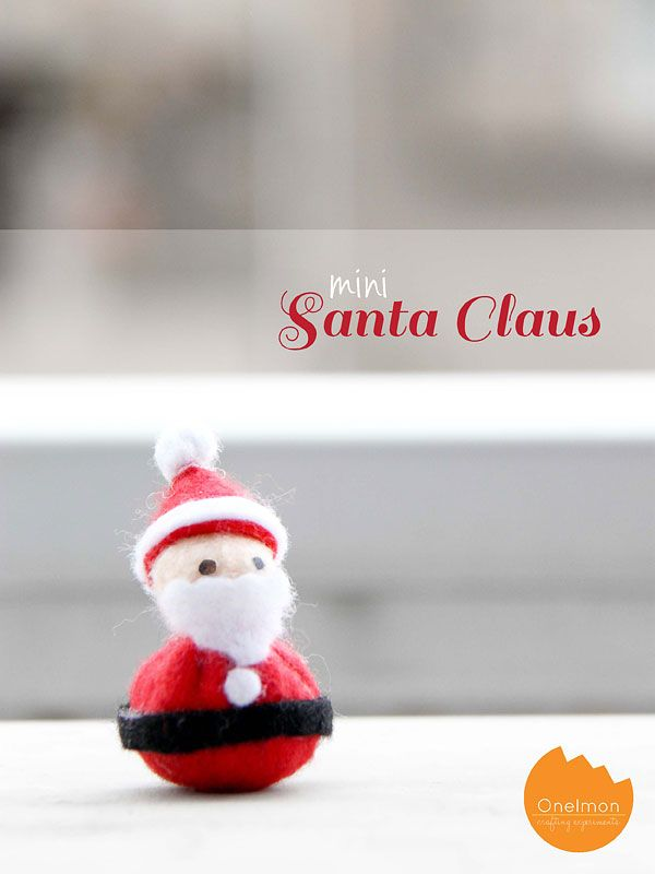 DIY Tutorial: Mini Santa Claus | Make this EASY felt Santa from felt scraps @Onellyantie Chuah