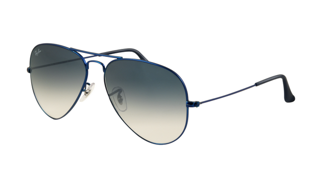 Ray Ban RB3025 Aviator Sunglasses Metal Blue Matte Frame Crystal ...
