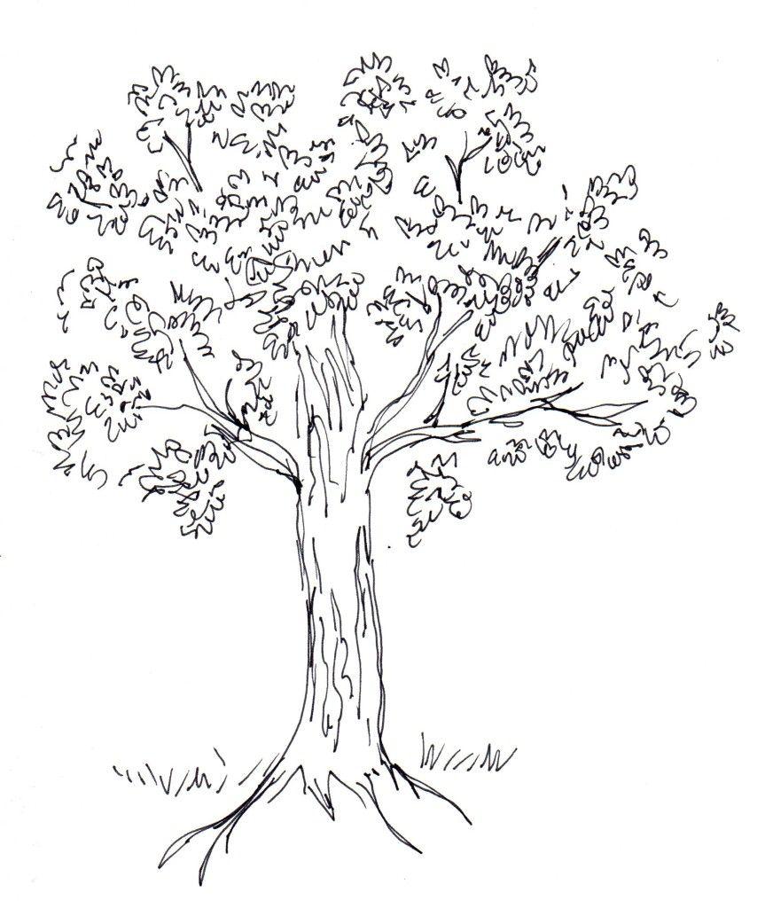 Tree scumbling tree scumbling drawing tutorials drawing techniques