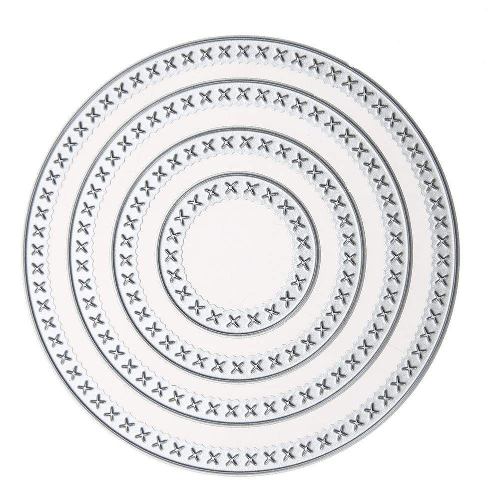 1.89$  Watch more here - New Metal 4 Pcs Circle Cutting Dies Stencils DIY Scrapbooking Album Decor Craft Die Cut Embossing Big Shot Cutting Machine   #magazine