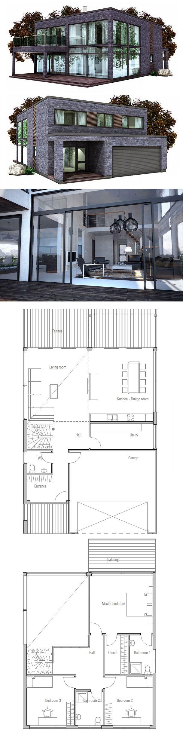 Küchenplan grundriss house plan modern minimalist architecture  floorplans  pinterest