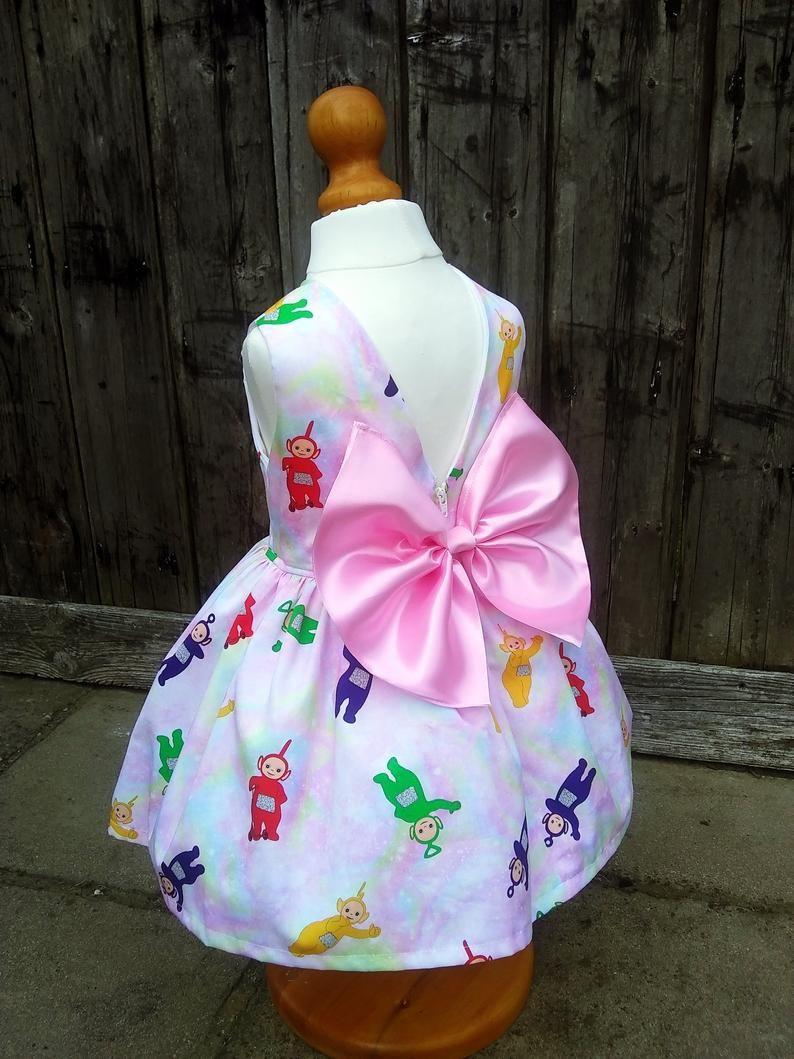 Teletubbies dressHandmade girl dress Birthday party Etsy