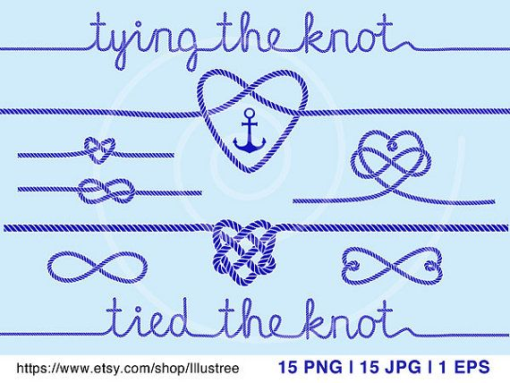 Tying The Knot Wedding Invitation Nautical Clip Art Rope Etsy Tie The Knot Wedding Rope Heart Nautical Wedding Invitations