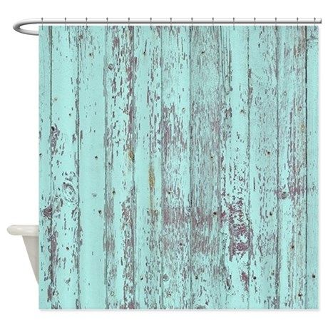 Rustic Blue Distressed Barn Wood Shower Curtain On Cafepress Com