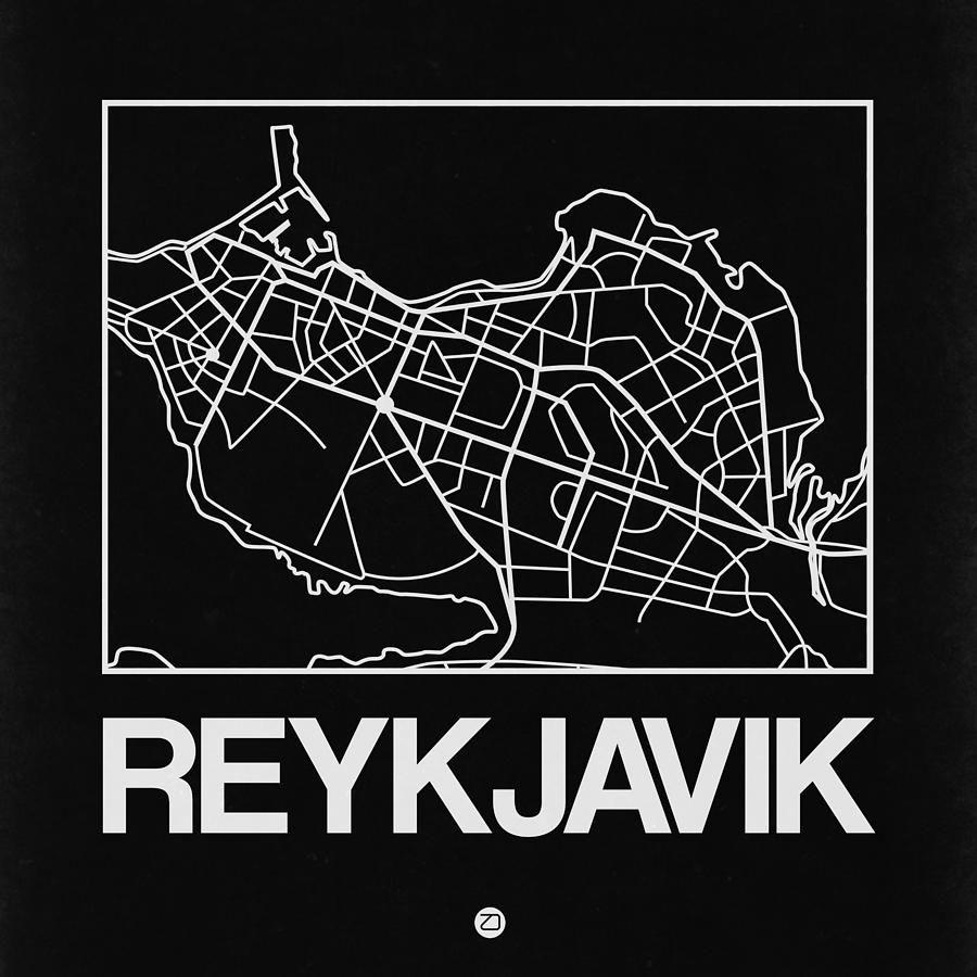 Digital Art - Black Map Of Reykjavik by Naxart Studio #affiliate , #Aff, #Affiliate, #Black, #Map, #Studio, #Art