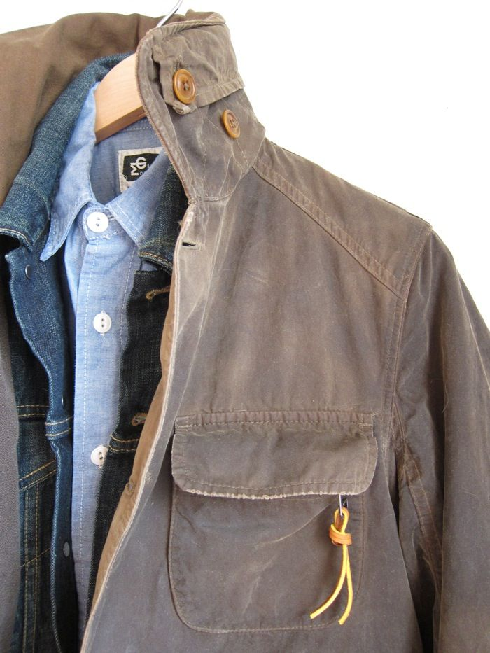 J Crew Hand Waxed Trapper Jacket With Levis Trucker And
