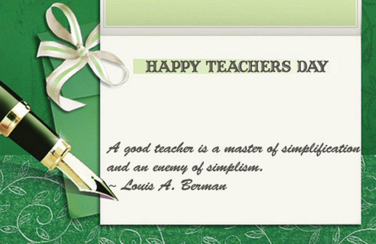 Teacher With Images Teachers Day Card Teachers Day Greetings