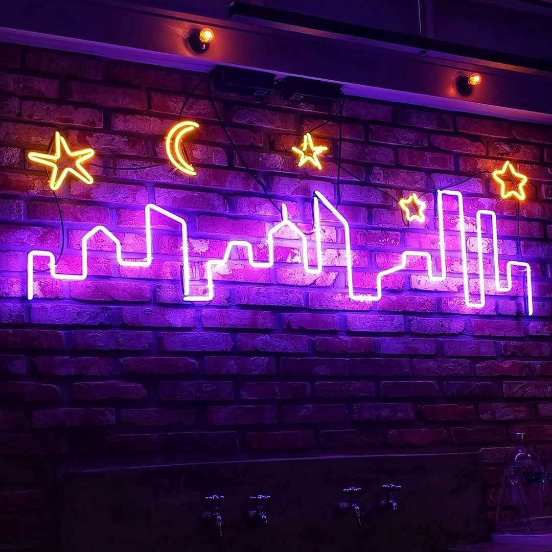 180825sat 네온사인 달좋은밤 Neon sign bedroom, Neon room