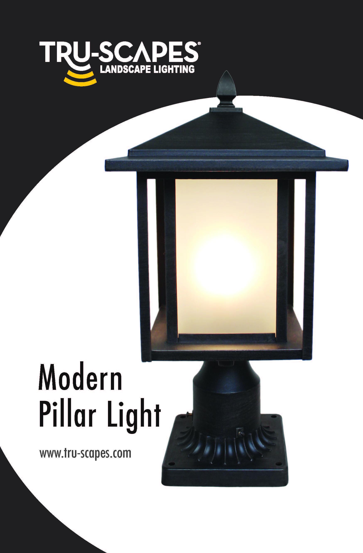 modern low voltage led pillar light