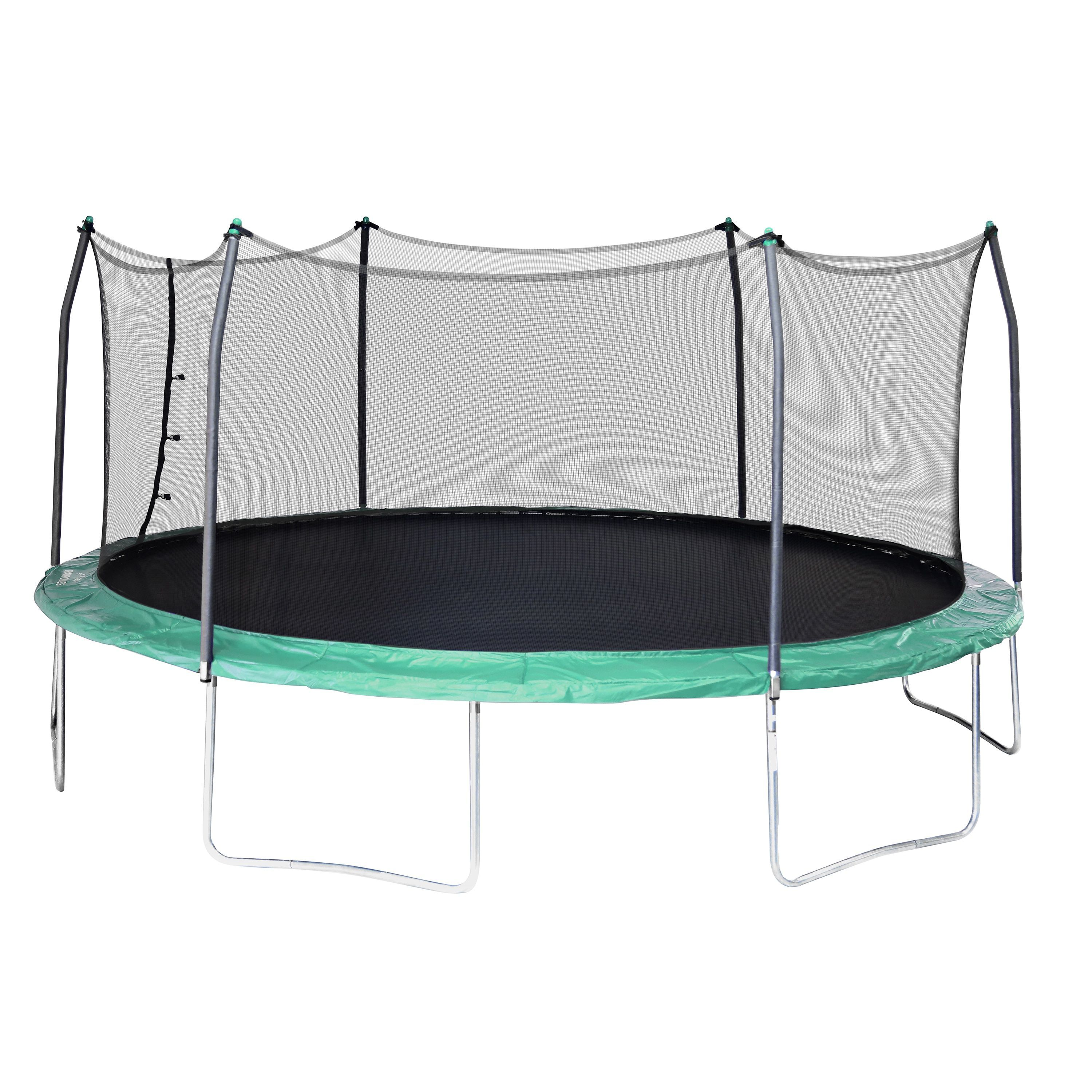 Skywalker Trampolines Green 17 Foot Oval Trampoline With Enclosure